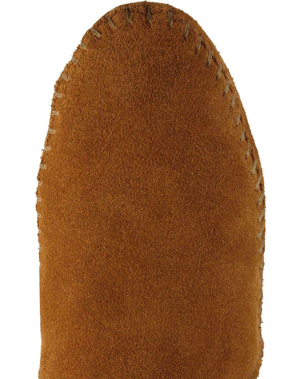 Minnetonka Soft Sole Back-Zip Moccasins, Brown, hi-res