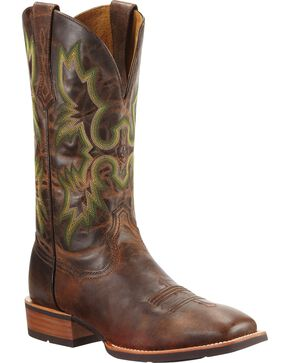 Ariat Tombstone Cowboy Boots - Square Toe, Chestnut, hi-res