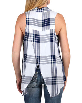 Shyanne Women's Plaid Collared Tank , Multi, hi-res
