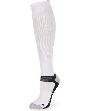 Shyanne Women's Tall Crew Socks, White, hi-res