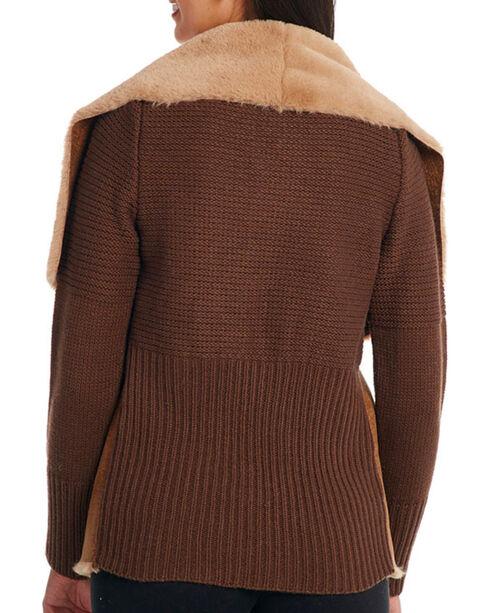 Cripple Creek Women's Knit & Faux Shearling Jacket, Tan, hi-res
