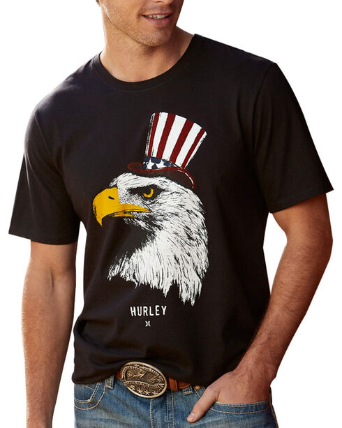 Hurley Men's One Nation Tee, Black, hi-res