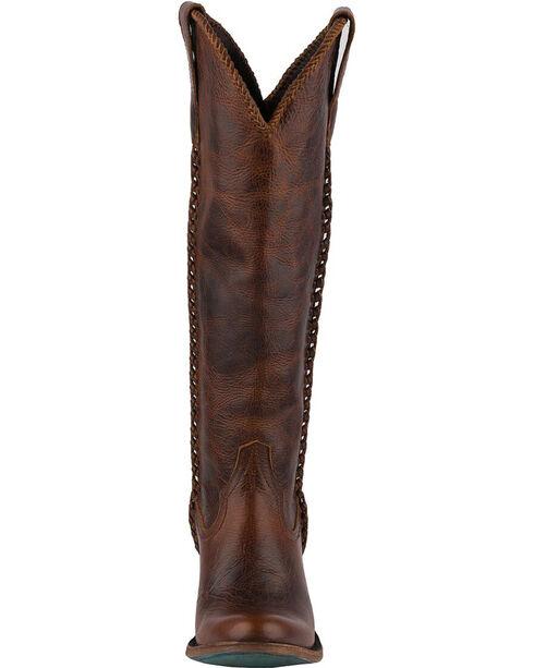 Lane Women's Plain Jane Dark Cognac Cowgirl Boots - Round Toe , Cognac, hi-res