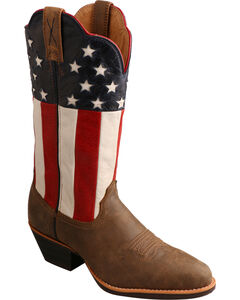Twisted X American Flag Western Cowgirl Boots - Round Toe, Bomber, hi-res