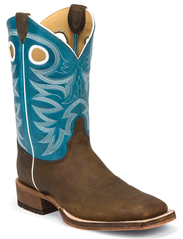 Justin Men's Bent Rail Cowboy Boots - Square Toe, Copper, hi-res