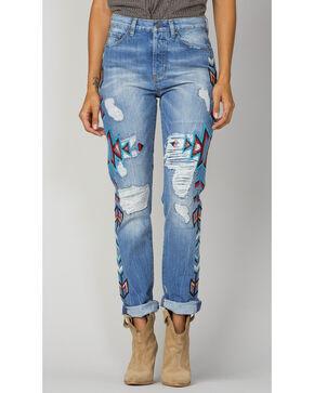 MM Vintage Women's Secret Origins Boyfriend Jeans - Ankle Cuff, Indigo, hi-res