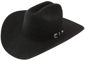 Stetson 6X Skyline Black Fur Felt Cowboy Hat, Black, hi-res