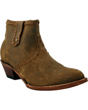Ferrini Women's Whip & Saddle Stitched Short Western Boots - Round Toe, Brown, hi-res