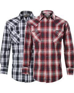 Ely Cattleman Men's Assorted Premium Plaid Long Sleeve Shirt, Multi, hi-res