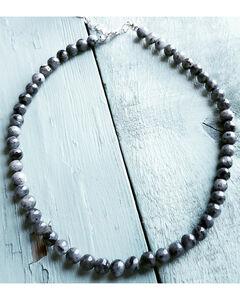 Jewelry Junkie Women's Labradorite Choker , Black, hi-res