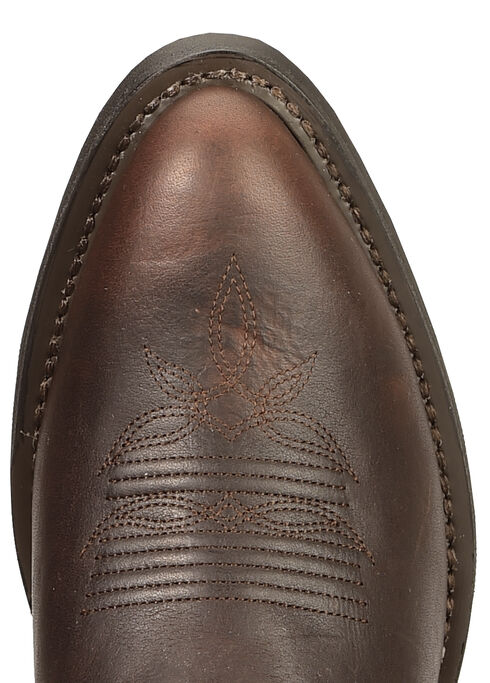 Laredo Copper Kettle Cowgirl Boots - Round Toe, Chocolate, hi-res