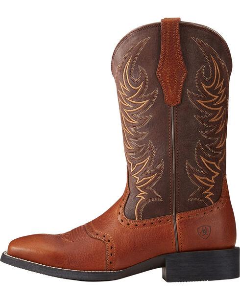 Ariat Men's Sport Sidewinder Performance Cowboy Boots - Square Toe, Lt Brown, hi-res