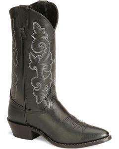 Justin London Calfskin Cowboy Boots - Medium Toe, , hi-res