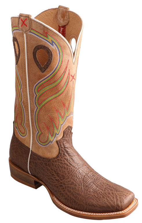 Twisted X Men's Crazy Horse Ruff Stock Cowboy Boots - Square Toe, , hi-res