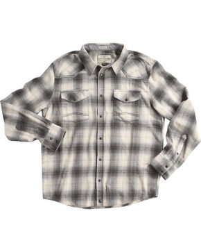 Cody James Men's Grey Kodiak Plaid Long Sleeve Shirt - Big & Tall, Grey, hi-res