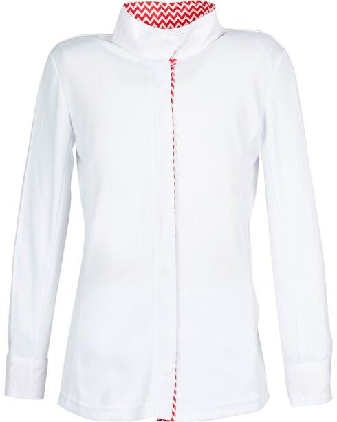 Dublin Women's Coolmax Long Sleeve Show Shirt, Pink Stripe, hi-res