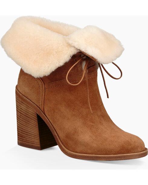 UGG Women's Chestnut Jerene Fashion Boots - Round Toe , Chestnut, hi-res