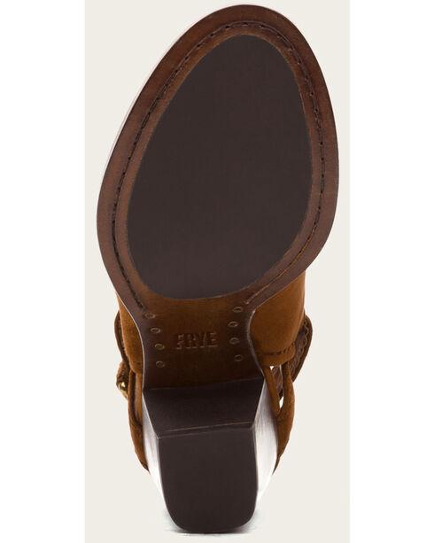 Frye Women's Dani Shield Sling Shoes - Round Toe , Brown, hi-res