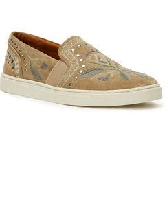 Frye Women's Ash Ivy Embroidered Slip-On Shoes , Ash, hi-res