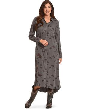 Billy T Women's Rolled Sleeve Butterfly Dress, Grey, hi-res