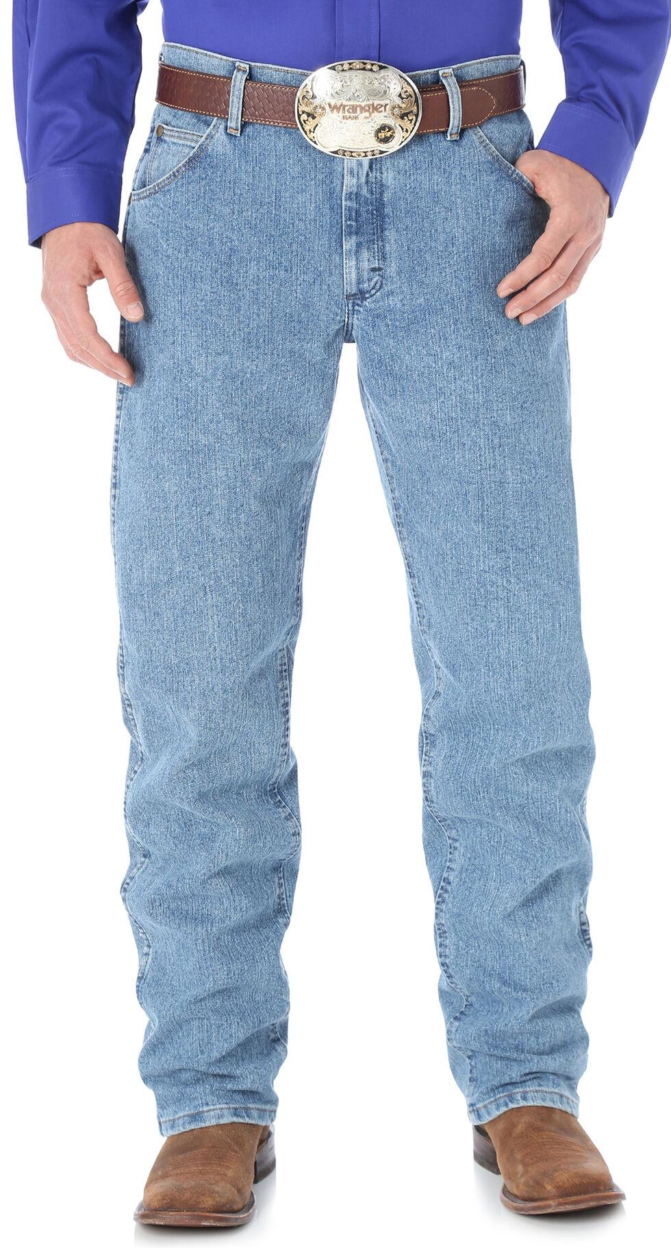 Wrangler Men's Premium Performance Cool Vantage Cowboy Cut Regular Fit Jeans, Light Stone, hi-res
