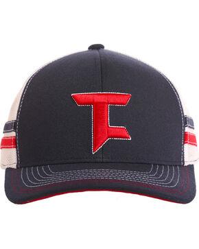 Tuf Cooper Performance Men's Logo Stripe Trucker Cap, Blue, hi-res