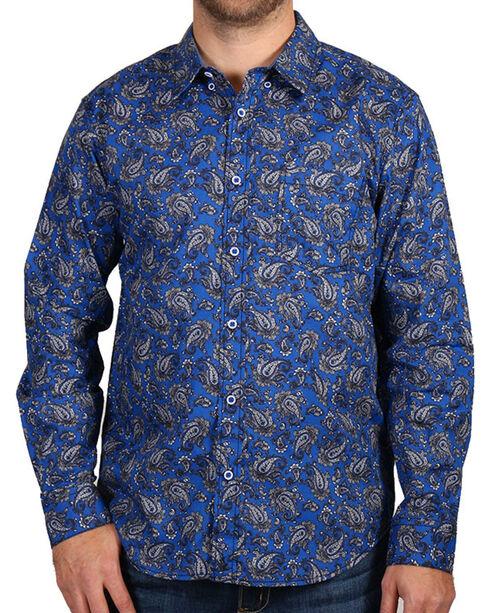 Cody James Men's Paisley Print Long Sleeve Shirt, Purple, hi-res