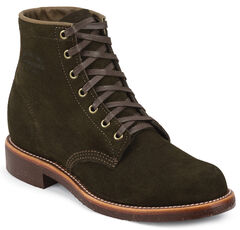 Chippewa Men's Chocolate Moss General Utility Suede Trooper Service Boots, , hi-res