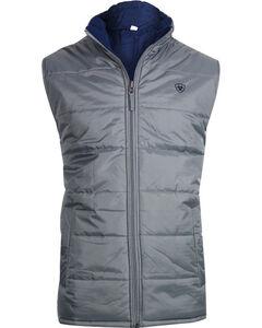 Ariat Men's Reversible Meridian Vest, Grey, hi-res