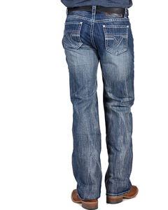 Rock & Roll Cowboy Men's Double Barrel Relaxed Fit Jeans - Straight Leg , Medium Blue, hi-res