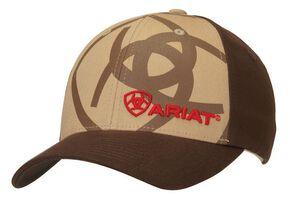 Ariat Flex Fit Shadow Logo Cap, Tan, hi-res