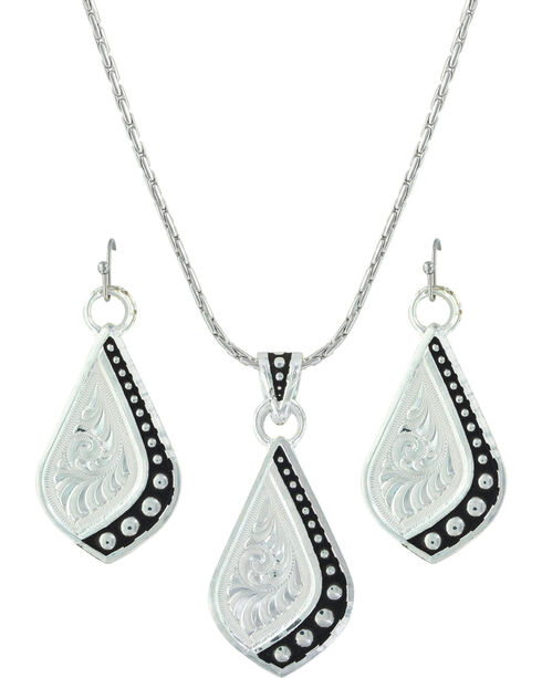 Montana Silversmiths Women's Silver The Path I Take Jewelry Set , Silver, hi-res