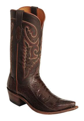 Lucchese Handcrafted 1883 Ostrich Leg Cowboy Boots - Snip Toe, , hi-res