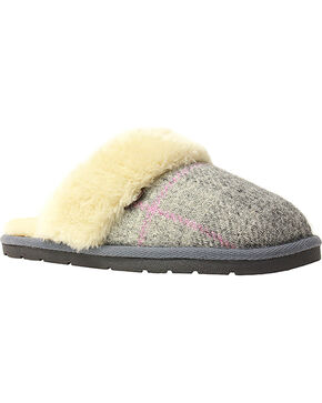 Lamo Footwear Women's Wembley Scuff Slippers , Grey, hi-res