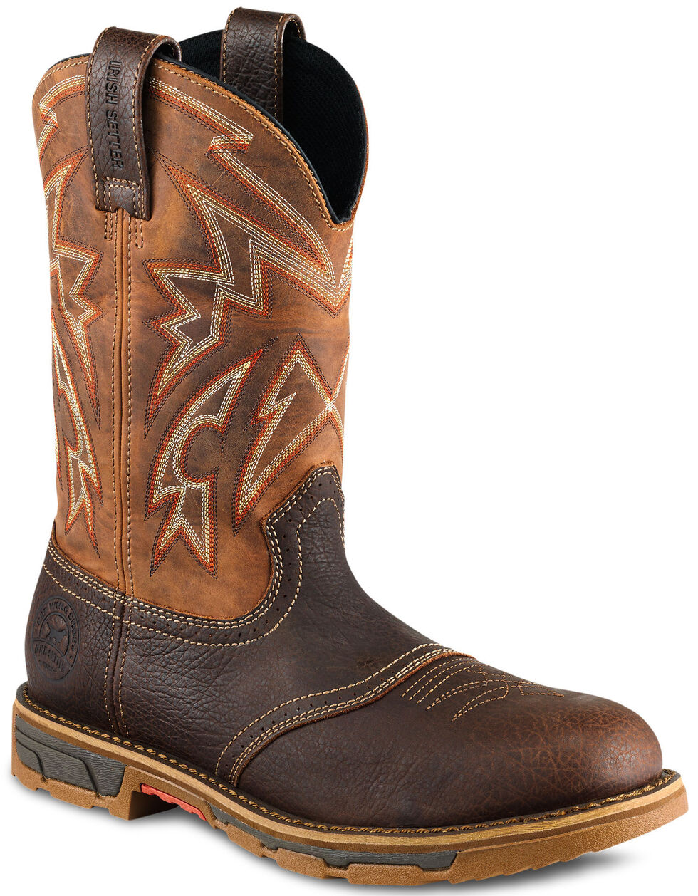 Irish Setter by Red Wing Shoes Men's Marshall EH Western Work Boots - Steel Toe , Brown, hi-res