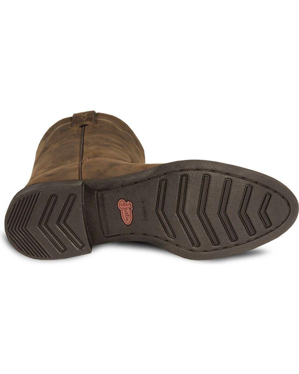 Justin Stampede Roper Cowboy Boots - Round Toe, Bay Apache, hi-res