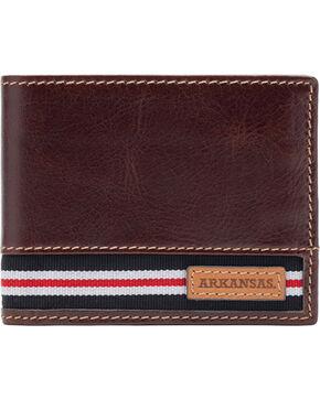 Jack Mason University of Arkansas Tailgate Traveler Wallet , Brown, hi-res