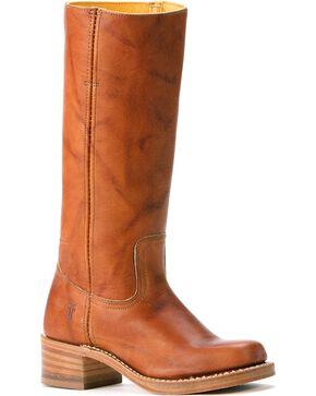 Frye Women's Campus 14L Boots - Square Toe, Saddle Tan, hi-res