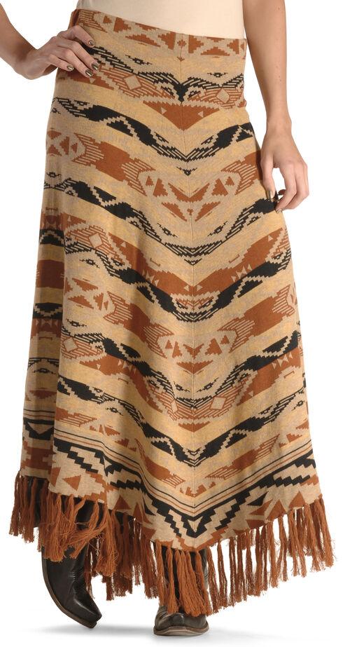 Tasha Polizzi Women's Azteca Blanket Skirt , Camel, hi-res