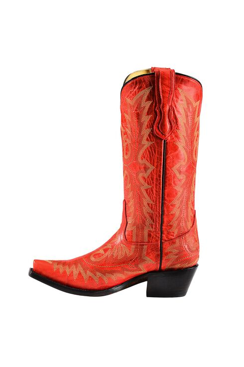 Corral Picasso Cowgirl Boots - Snip Toe, Red, hi-res