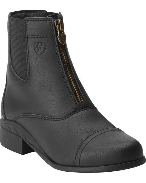 Ariat Kids' Scout Zip Paddock Riding Boots, Black, hi-res