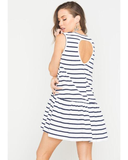 Polagram Women's Striped Mini Dress , Navy, hi-res