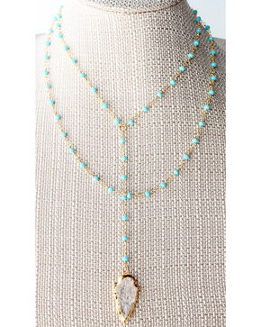 Everlasting Joy Jewelry Women's Turquoise Route 66 Necklace , Turquoise, hi-res