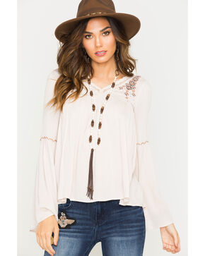 Sage the Label Women's Blush Temple Beaded Blouse , Blush, hi-res