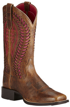 Ariat Brown Women's Quickdraw Venttek Boots - Wide Square Toe , , hi-res