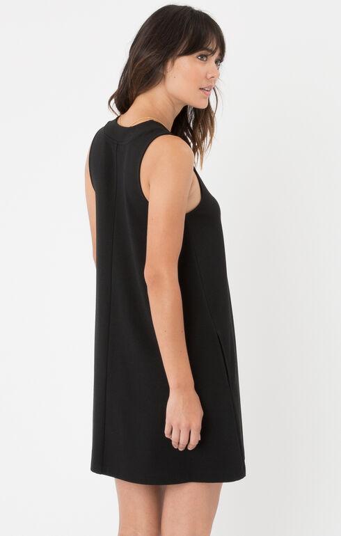 Z Supply Olivia Ponte Dress, Black, hi-res