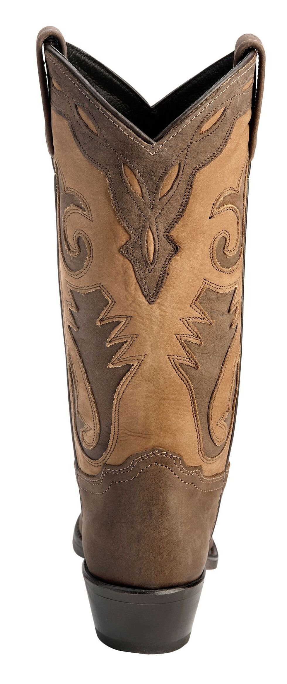 Sage by Abilene Inlay Cowgirl Boots, Distressed, hi-res