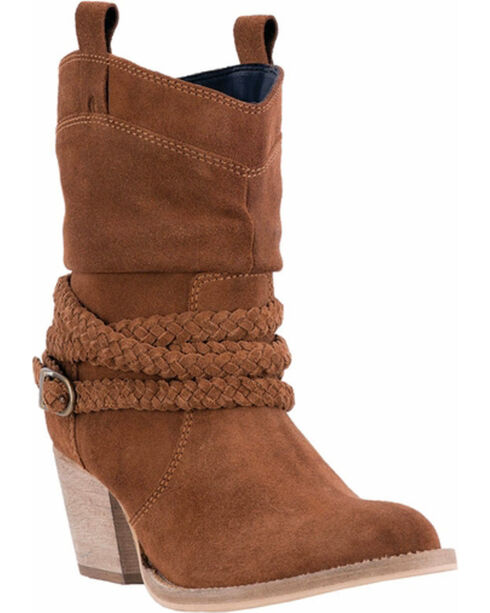 Dingo Women's Copper Twisted Sister Slouch Boots - Round Toe , Rust Copper, hi-res