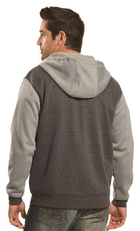 Hooey Men's Men's Zip-Up Grey Stripe Hoodie  , Grey, hi-res