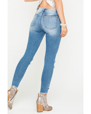 Miss Me Women's Indigo Let It Rip Ankle Jeans - Skinny , Indigo, hi-res